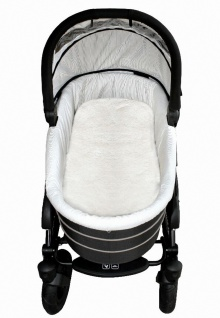 Baby Lammfell Einlagen weiß 30 mm geschoren für Tragetasche, Kinderwagen, Kin...