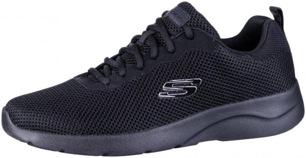 SKECHERS Dynamight 2.0 Herren Mesh Sneakers black, Memory Foam Fußbett