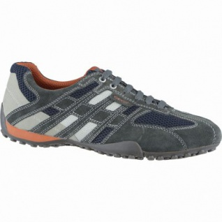 Geox U Snake modische Herren Leder Sneakers dark grey, Geox Laufsohle, Antishock, 2138163/43