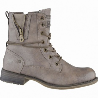 Mustang kuschlige Damen Synthetik Boots taupe, Warmfutter, warme Mustang Decksohle, 1639111