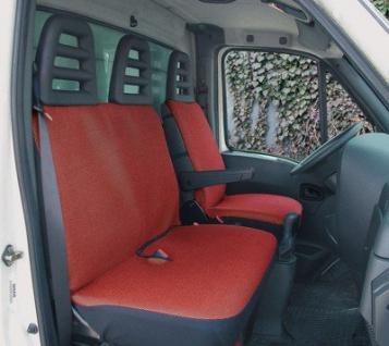 Universal Polyester Sitzbezüge Transporter rot, waschbar, 1 Vordersitzbezug, 1 einteiliger Doppelbanksitzbezug