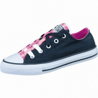 Converse CTAS Chuck Taylor All Star Loopholes Mädchen Canvas Sneaker black/plastic pink/daybreak pink, Textilfutter, 3336136/32