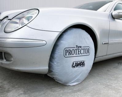 LAMPA 200 Stück Polyethylen Reifenschutz, Radabdeckung 102x90 cm, schützt Rei...