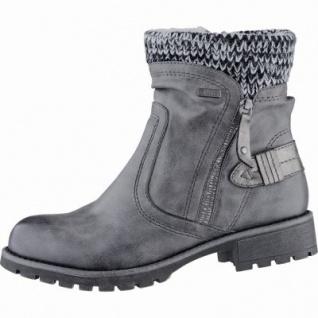 Jana modische Damen Synthetik Winter Boots graphite, Extra Weite H, Tex Ausstattung, Warmfutter, warme Decksohle, 1739127/36