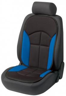 bequeme Universal Auto Sitzauflage Novara blau, hohes Rückenteil, 30 Grad was...