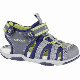 Geox coole Jungen Synthetik Sandalen grey, Geox Leder Fußbett, Antishock, 3140107/21