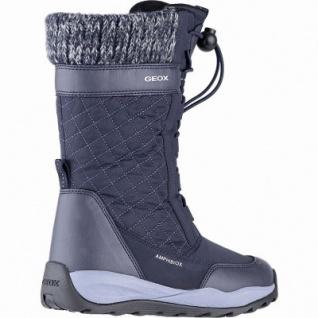 Geox Mädchen Winter Synthetik Amphibiox Stiefel navy, 20 cm Schaft, molliges Warmfutter, herausnehmbare Einlegesohle, 3741114/31 - Vorschau 2