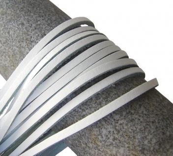 1 Paar Docksider Leder Schuhriemen weiß, Länge 120 cm, Stärke ca. 2, 8 mm, Bre...