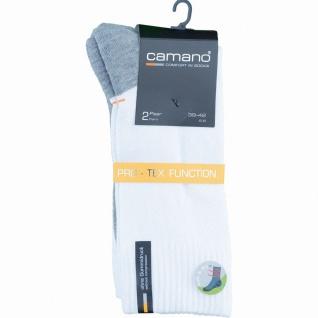 Camano 2er Pack Damen, Herren Sport Socken weiß, Bund ohne Gummidruck