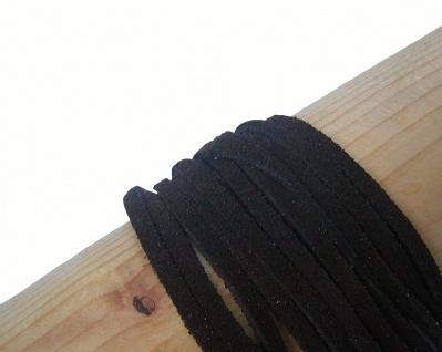 10 Stück Velourleder Rindleder Vierkantriemen schwarz am Bund, Länge 100 cm, ...