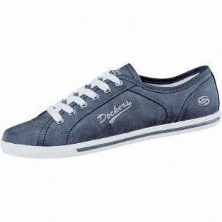 Dockers sportliche Damen Synthetik Sneaker schwarz, gepolstertes Dockers-Fußbett, 1236159