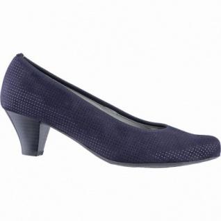 Jenny Auckland klassische Damen Synthetik Pumps blau, Leder Fußbett, Comfort Weite G, 1140119/37