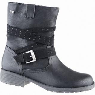 Indigo modische Mädchen Synthetik Winter Tex Stiefeletten black, Warmfutter, warmes Fußbett, 3739159/36
