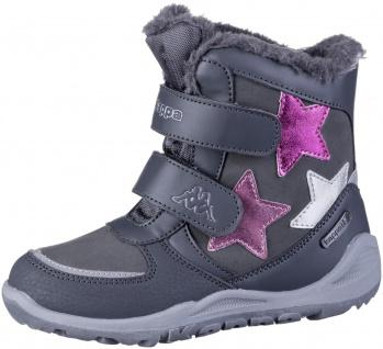 KAPPA Glitzy Tex Mädchen Winter Synthetik Boots grey, Warmfutter, wasserdicht...