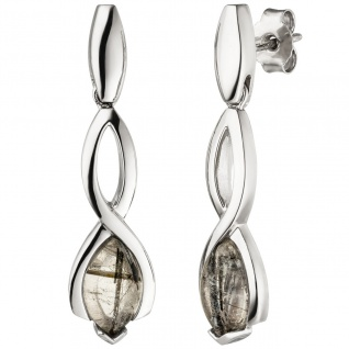 Ohrhänger 925 Sterling Silber 2 Turmalinquarze Ohrringe