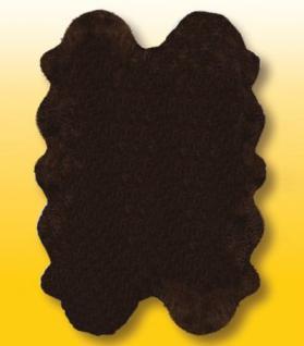 Fellteppiche braun gefärbt aus 4 Lammfellen, Größe ca. 185 x 125 cm, 30 Grad waschbar