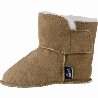 Beck Bootie, warme Baby Lammfell Lauflern Boots braun, Klettverschluss, Lammf...