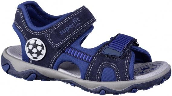 SUPERFIT Jungen Leder Sandalen blau, mittlere Weite, softe Superfit Decksohle
