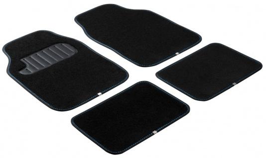 Komplett Set Universal Polyester Auto Fußraum Matten The Color schwarz blau 4...