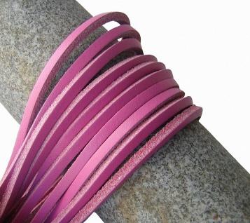 1 Paar Docksider Leder Schuhriemen rosa, Länge 120 cm, Stärke ca. 2, 8 mm, Bre...
