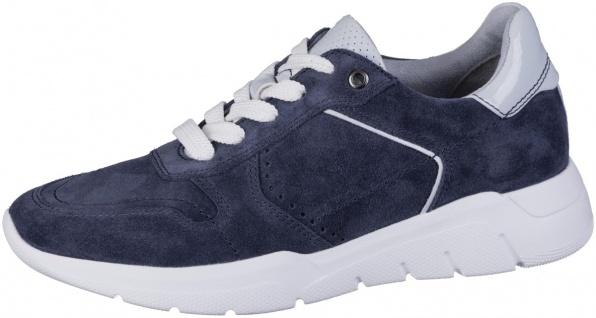 JANA Damen Leder Sneakers navy, Extra Weite H, Jana Comfort Fußbett