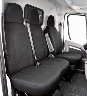 Passform Transporter Sitzbezüge Fiat Ducato, passgenauer Sitzbezug Einzelsitz...