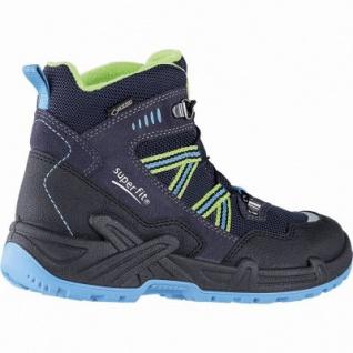 Superfit Jungen Winter Leder Gore Tex Boots blau, angerautes Futter, warmes Fußbett, 3741142/33 - Vorschau 2