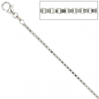 Venezianerkette 925 Silber 1, 8 mm 80 cm Halskette Kette Silberkette Karabiner