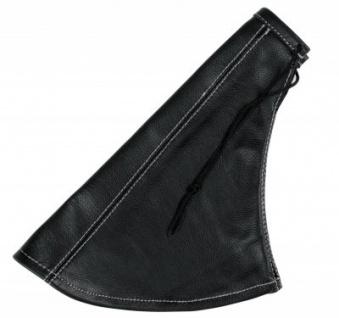 Leder Schaltmanschette Handbremssack schwarz grau, Leder Schalthebel Überzug, für Autos mit Hebel-Boot-Basis