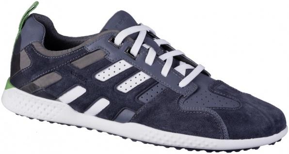 GEOX Herren Leder Sneakers dark avio, Meshfutter, atmungsaktive Geox Laufsohle