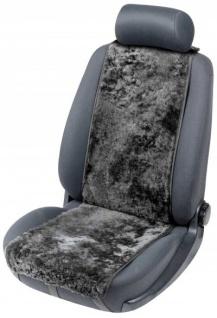 weiche Universal Lammfell Autositz Auflage Cosmo schwarz, kühlt im Sommer, wärmt im Winter, 12-14 mm Fell Höhe