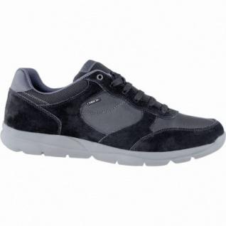 Geox modische Herren Leder Sneakers schwarz, herausnehmbares Geox Lederfußbett, atmungsaktive Laufsohle, 2139117/41