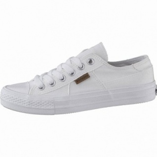 new concept 5b4e6 eb53c Dockers sportliche Damen Canvas Sneakers weiss, weiches Fußbett, modische  Sneaker Laufsohle, 1242153/36