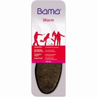 Bama Royal Damen, Herren Lammfell Einlegesohlen braun, gegen starke Kälte