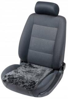 weiches Lammfell Auto Sitzkissen Molly schwarz, Lammfell Sitzauflage, ca. 55x36 cm