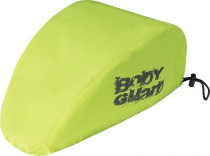SAFETY MAKER Fahrradhelm Regenschutz gelb wasserdicht, reflektierend, erhöht ...