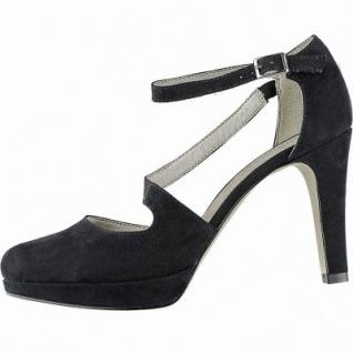 s.Oliver stylishe Damen Leder Imitat High Sandaletten black, weiche Soft Foam Decksohle, Absatz 90 mm, 1042140/36