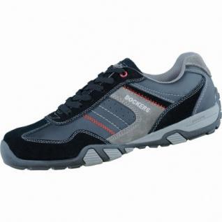Dockers modische Herren Leder Sneakers schwarz grau, Fettleder Velourleder kombiniert, gepolstertes Dockers-Fußbett, 2136111/46