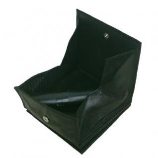 kleine Lederbörse Wiener Schachtel dunkelgrün, 1 großes Kleingeldfach, 2 Scheinfächer, 4xCC, ca. 9x10 cm