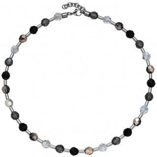 Collier Halskette SWAROVSKI® ELEMENTS mit Edelstahl 45 cm Kette - Vorschau