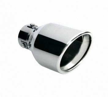 LAMPA TS-39 Universal Edelstahl Auspuff Blende, Endrohr, Ø 35-42 mm, 170x100 mm, Endtopf, Auspuffrohr, Sportauspuff
