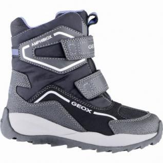 Geox coole Jungen Winter Synthetik Amphibiox Boots black, Warmfutter, Thermo Fußbett, 3739174