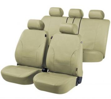 Universal Kunstleder Auto Sitzbezüge schlammgrün, 8-teilig, Komplett Set