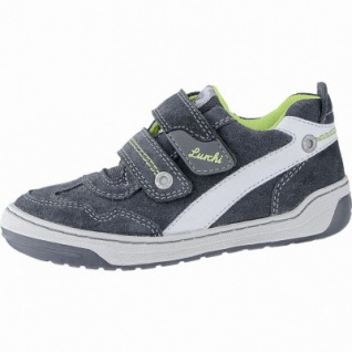 Lurchi Bruce modische Jungen Leder Sneakers jungle, breitere Passform, Lurchi Leder Fußbett, 3340120/36