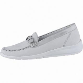 Waldläufer Hinata 18 Damen Leder Mokassins cement, herausnehmbares Leder Fußbett, Extra Weite H, 1340152/4.0