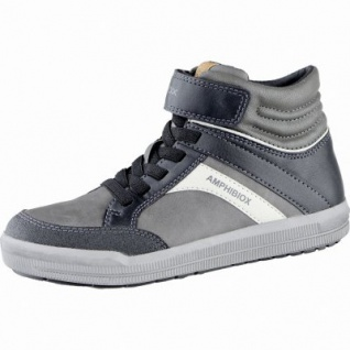 Geox coole Jungen Synthetik Winter Amphibiox Sneakers grey, angerautes Futter, Thermo Fußbett, 3739170/30