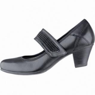 Jana trendige Damen Leder Pumps black, Jana Comfort Fußbett, Extra Weite H, 1140109/6.0