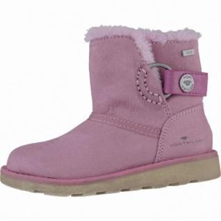 TOM TAILOR Mädchen Winter Textil Tex Boots rosa, Warmfutter, 3739210/36