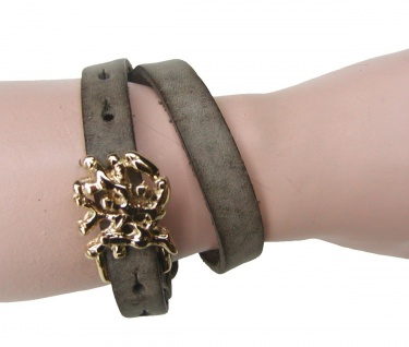 Boom Belts Wechselschließe Abstrakt gold für Damen, Herren Leder Armbänder mi...