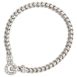 Armband 585 Gold Weißgold 20 Diamanten Brillanten 19 cm Weißgoldarmband